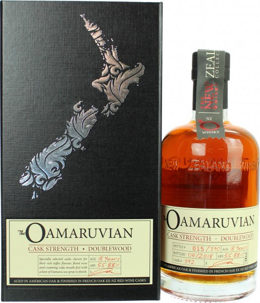 The New Zealand The Oamaruvian 18 Jahre Cask Strength