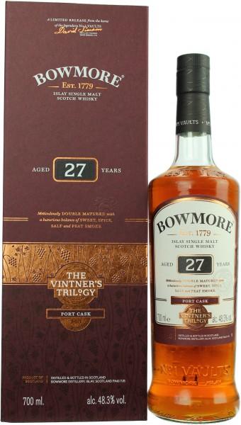 Bowmore 27 Jahre Port Cask Vintner's Trilogy 48.3% 0,7l