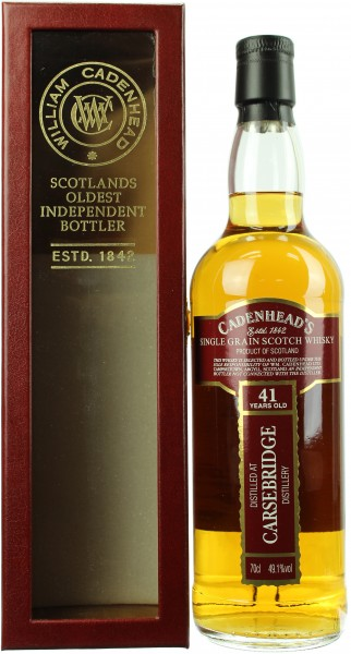 Carsebridge 41 Jahre 1976/2018 Closed Distilleries Cadenhead's 49.1% 0,7l