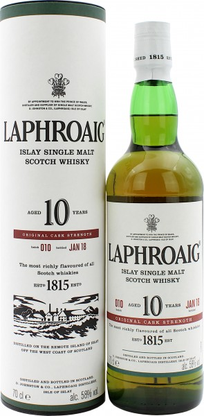 Laphroaig 10 Jahre Cask Strength Batch 010 2018