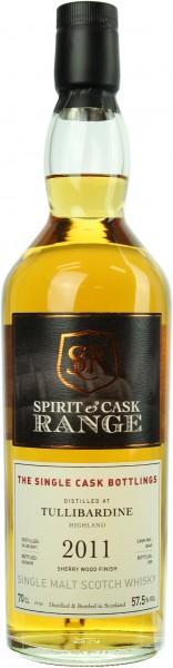 Tullibardine 2011/2018 Sherry Wood Finish Spirit & Cask Range