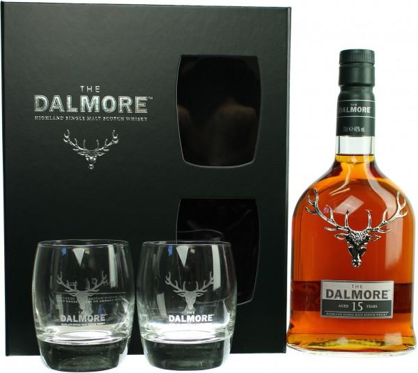Dalmore 15 Jahre Geschenkset mit 2 Tumblern