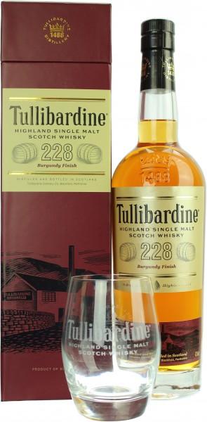 Tullibardine 228 Burgundy Finish mit einem Tumbler 43.0% 0,7l