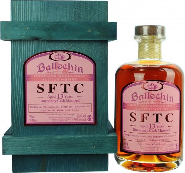Ballechin SFTC 13 Jahre 2004/2017 Burgundy Cask 52.0% 0,5l