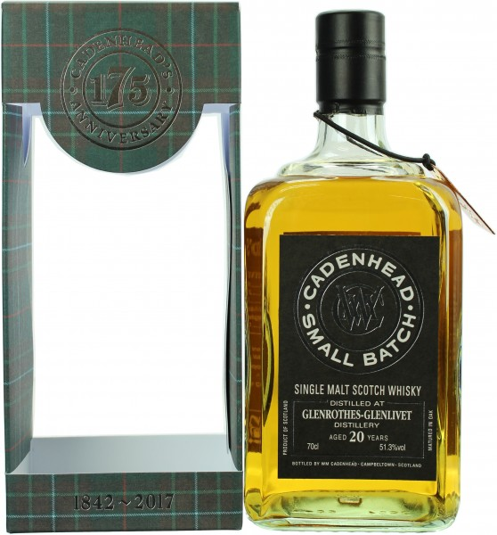 Glenrothes 20 Jahre 1996/2017 Small Batch Cadenhead's 51.3% 0,7l