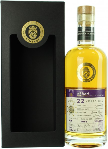 Arran 22 Jahre 1996/2019 House of McCallum 50.5% 0,7l
