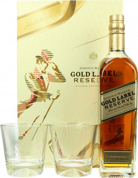 Johnnie Walker Gold Label Reserve Geschenkset mit 2 Tumblern