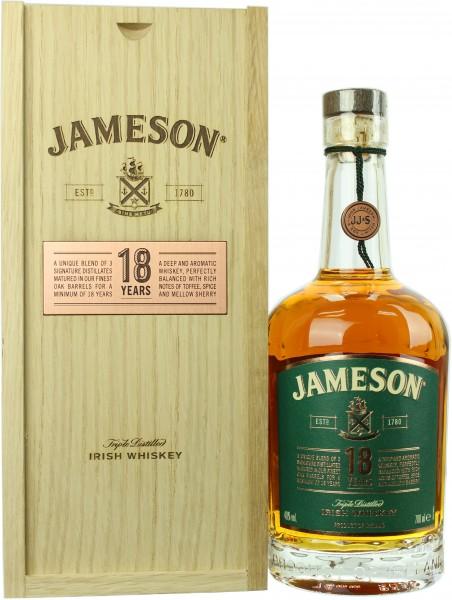 Jameson 18 Jahre Holzbox 2018 40.0% 0,7l