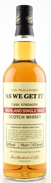 Ian Macleod´s - As We Get It - Cask Strength Highland Sherry