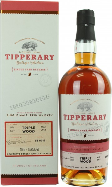 Tipperary 10 Jahre 2007/2018 Triple Wood Single Cask 57.78% 0,7l