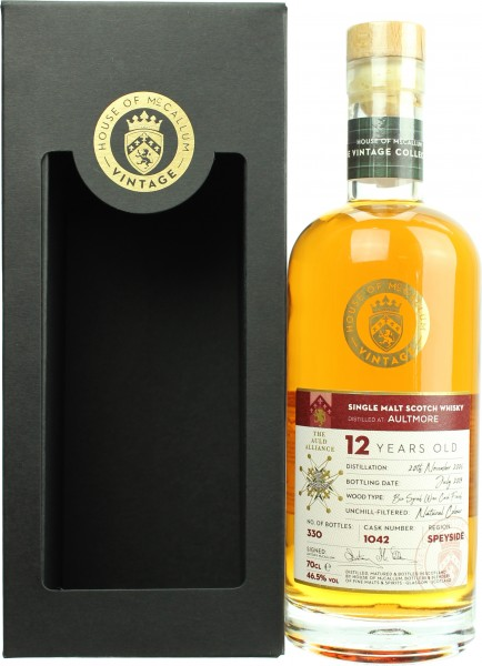 Aultmore 12 Jahre 2006/2019 Syrah Wine Cask Finish House of McCallum