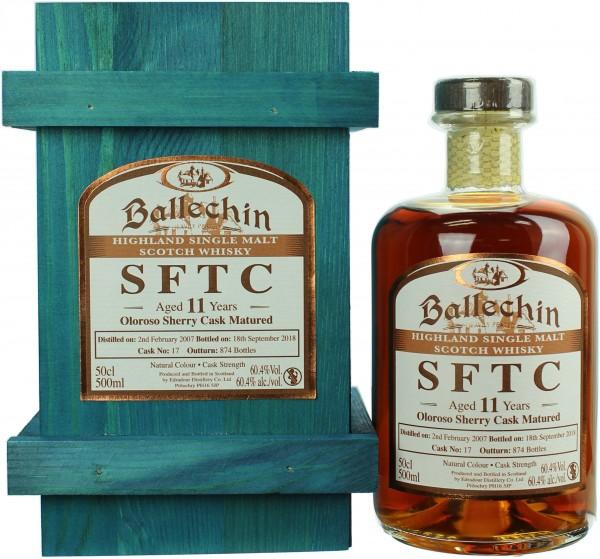 Ballechin SFTC 11 Jahre 2007/218 Oloroso Sherry Cask 60.4% 0,5l