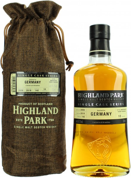 Highland Park 10 Jahre 2008/2018 Single Cask Germany Edition 65.1%