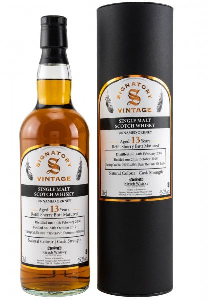 Unnamed Orkney 13 Jahre 2006/2019 Signatory Single Cask