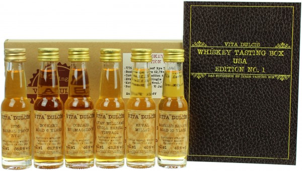 "Whisky Tasting-Box ""USA"" 49,27% 6x20ml"