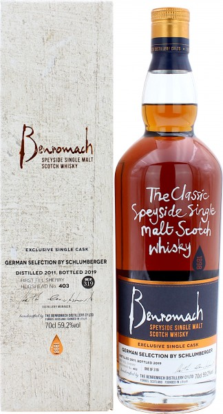 Benromach 2011/2019 First Fill Sherry Cask German Selection