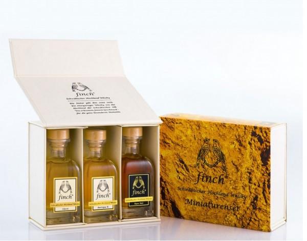 Finch Whisky Miniaturenset 42.66% 3x40ml