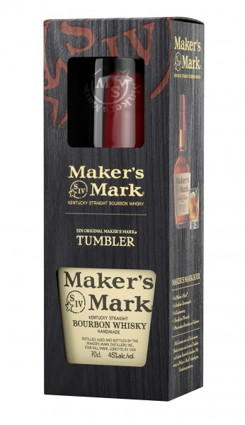 Maker's Mark Red Seal mit einem Tumbler 45.0% 0,7l
