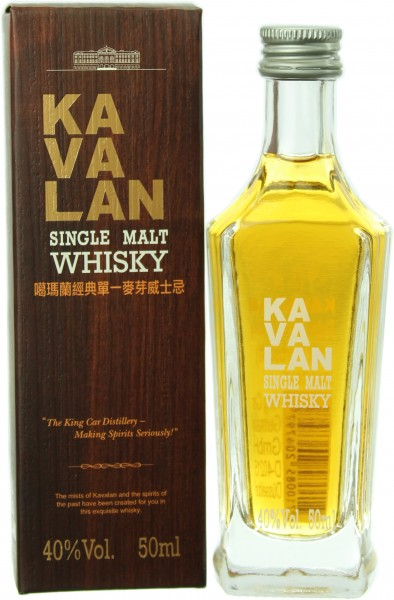 Miniatur Kavalan Single Malt (Taiwan) 40.0% 0,05l