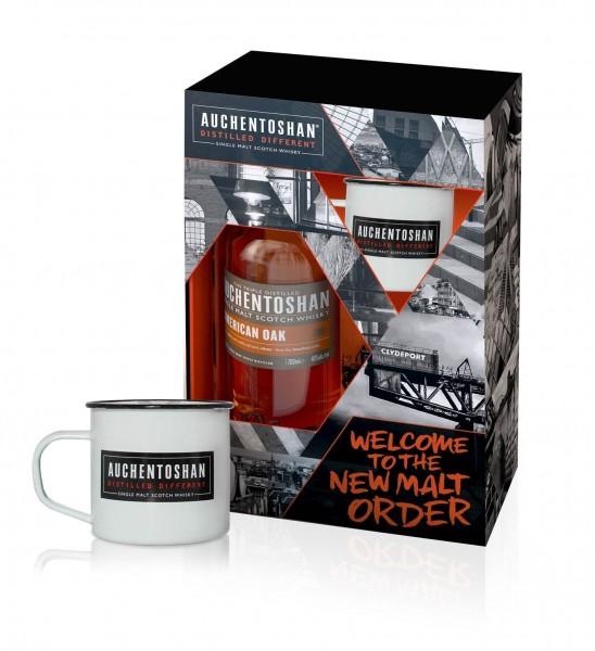 Auchentoshan American Oak mit Metall-Mug