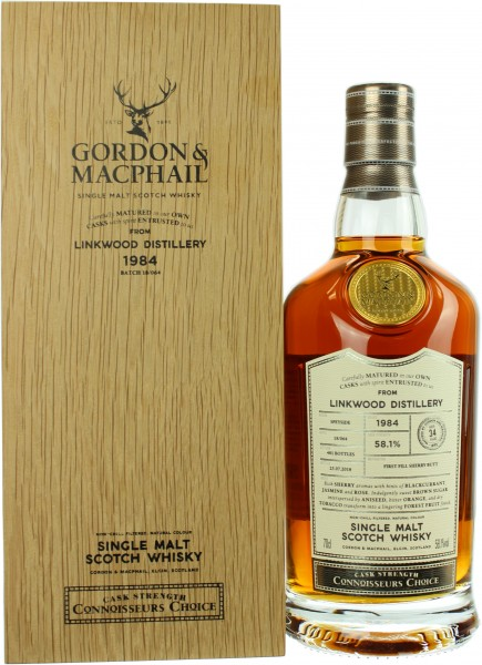 Linkwood 34 Jahre 1984/2018 G&M Connoisseurs Choice Cask Strength 58.1% 0,7l