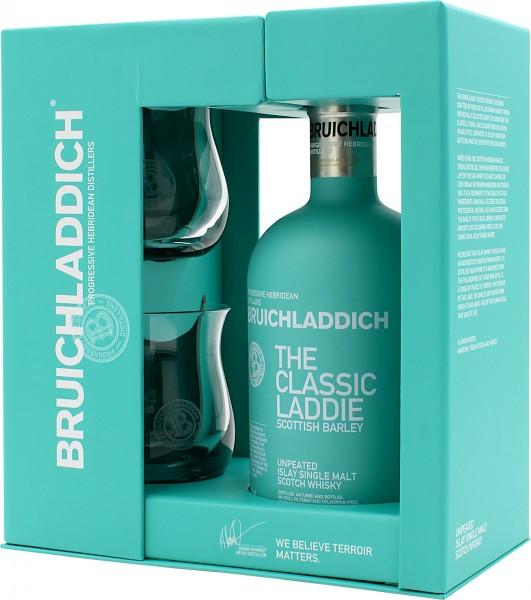 Bruichladdich Scottish Barley The Classic Laddie Geschenkset mit 2 Gläsern