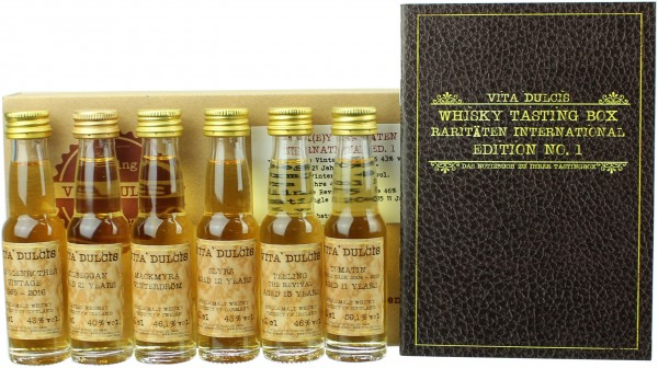 "Whisky Tasting-Box ""Raritäten International"" 46,20% 6x20ml"
