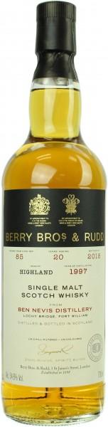 Ben Nevis 20 Jahre 1997/2018 Berry Bros. & Rudd 54.6% 0,7l